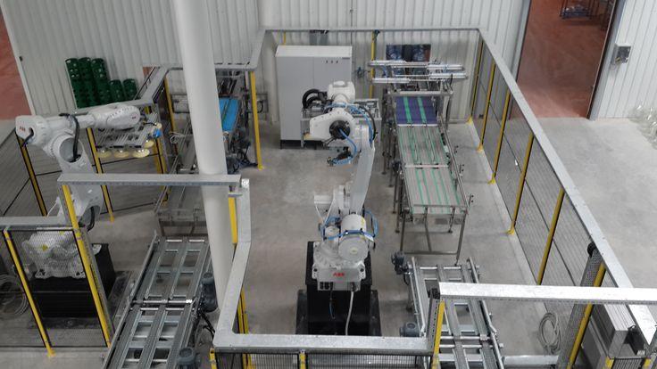 damacana paletleme robotu çift robotu viyol paletleme