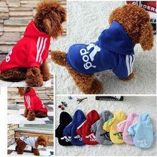 Hote Koop Herfst En Winter Hondenkleding Huisdieren Jassen Huisdier producten Zachte Katoen Puppy Hondenkleding Voor 7 kleuren Goedkopere Size: XS-2XL(China (Mainland))