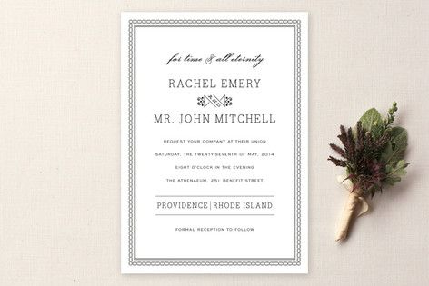 Time and All Eternity Wedding Invitations - The name (title) of the wedding invitation set says it all. How do you spend your eternity with someone you really love? By beginning with forever, just as what this wedding invitation theme conveys.