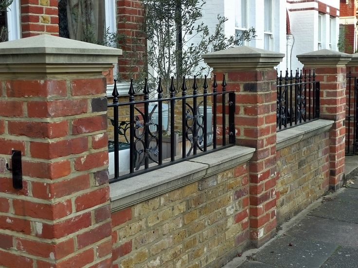 Brick Wall Fence Designs: Classic Wrought Iron. This Page Also Has A Lot Of Other
