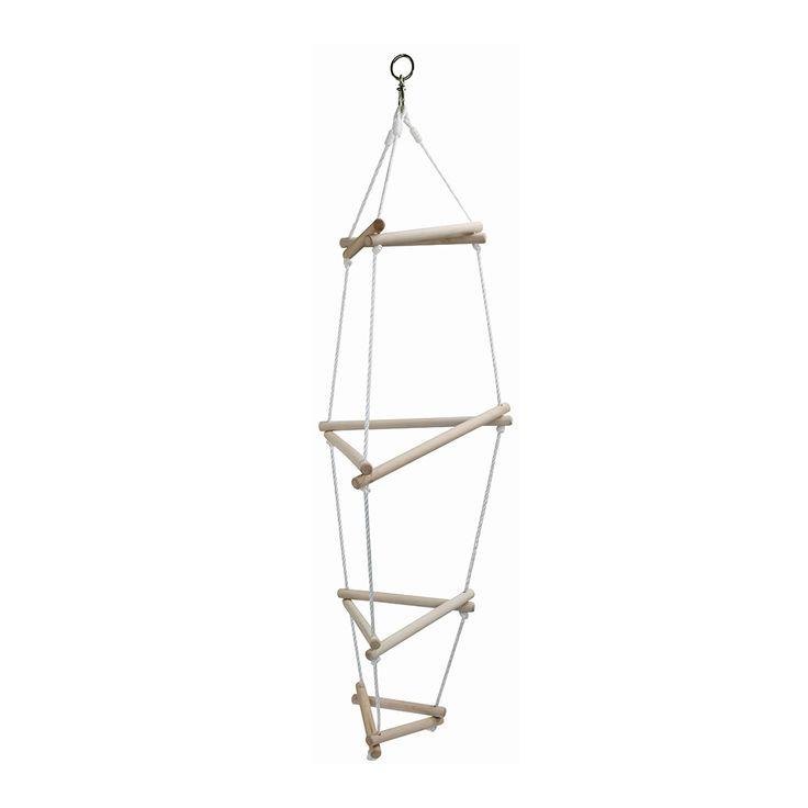 Lekker klauteren met deze driehoeks touwladder. Geschikt voor kindjes vanaf 5 jaar. Te vinden bij Sassefras Meisjes Speelgoed voor écht peuter en kleuter speelgoed