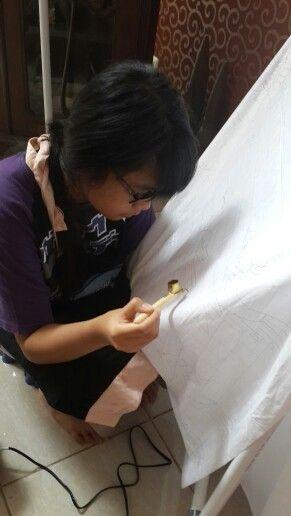 Practice making batik...Griya Khenest Galery Perumahan Citra Gran Cibubur Kota Bekasi Indonesia