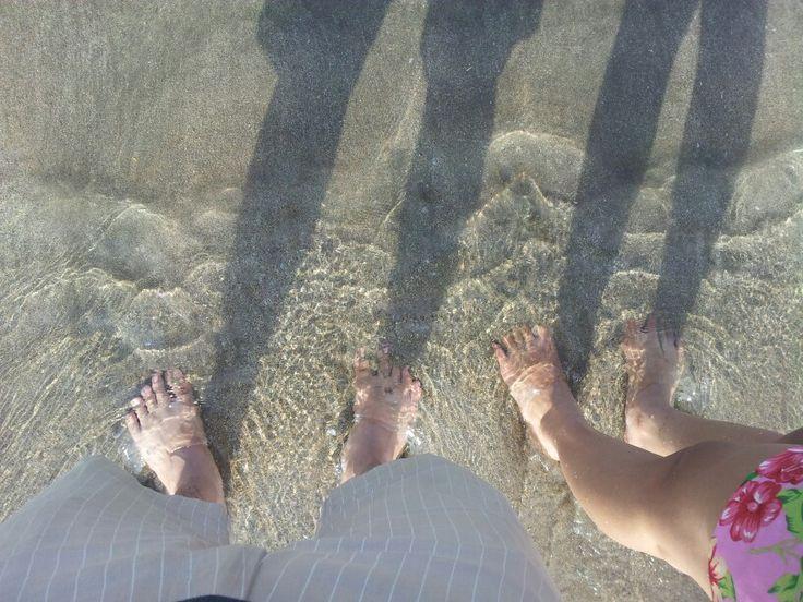 My & her leg