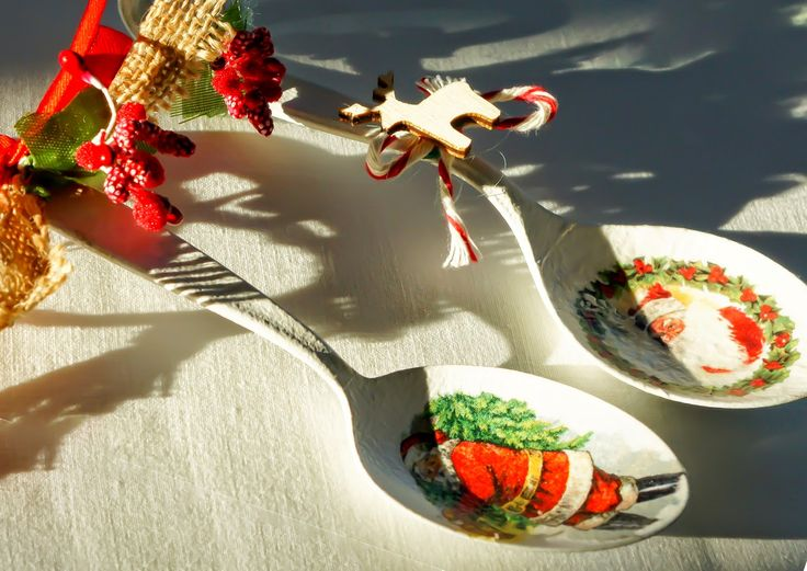ozdoba bożonarodzeniowa ze starej łyżki  upcycles old spoon into xmas ornament