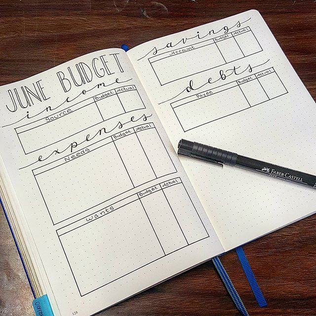 I'm super excited to try this budget spread for the month of June! One of my goals for this year was to get out of debt and save an emergency fund to stop relying on credit cards. I use a software program called You Need A Budget (YNAB for short) and while the program has been a real lifesaver and a dream to use, I feel like having a spread in my bullet journal will really help me hold myself accountable for my (over) spending . . . #bulletjournal #bulletjournaljunkies…