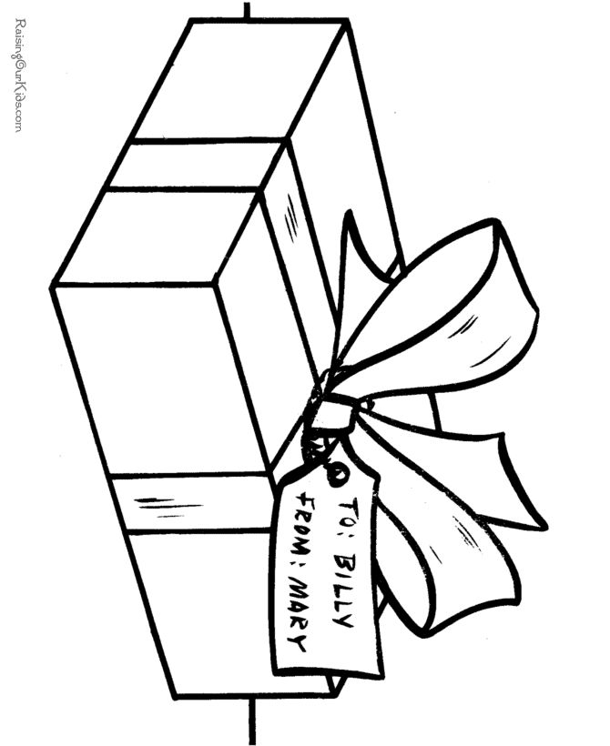 free christmas presents coloring pages - Present Coloring Page