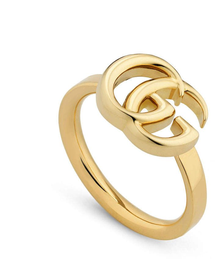 c9403663e Gucci 18k Yellow Gold 13mm GG Running Ring, Size 6.75 in 2019 ...
