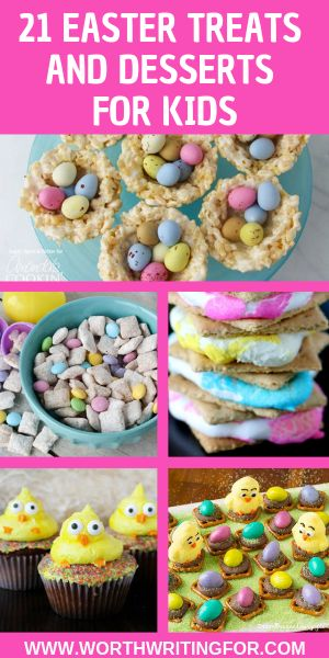 21 Cute & Easy Easter Treats for Kids! Easter dessert ideas to make with your ki…   – Easter dessert