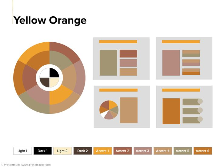 PowerPoint 2013: Color theme #9: Yellow Orange