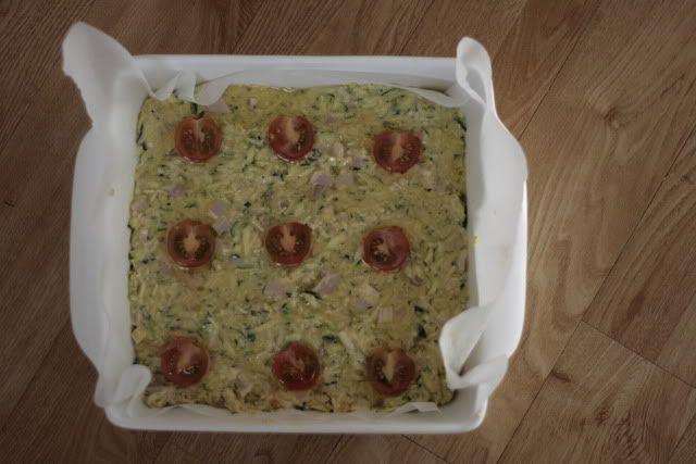 Best ever zucchini slice