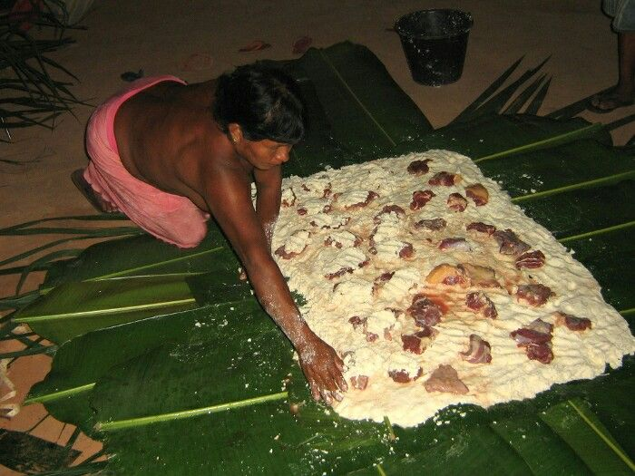 Paparuto  Qu'est-ce que le paparuto? Le paparuto est un aliment typique des Indiens Krahô, qui vivent dans l'état de Tocantins, dans le Cerrado brésilien. Mais d'autres personnes proches d'eux préparent aussi ce plat, comme le Hawk Pykopje. Dans plusieurs parties, le paparuto est une recette importante. Et comment faites-vous le paparuto? Vous devez d'abord râper le manioc (manioc) ou le manioc sauvage. Si vous faites le manioc, vous devez enlever le poison de la pâte avec l'aide du tipiti…