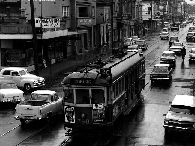 1964: Sydney Rd, Brunswick. Picture: Herald Sun Image Library