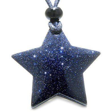Amazon.com: Amulet Magic Five Pointed Super Star Crystal Blue ...