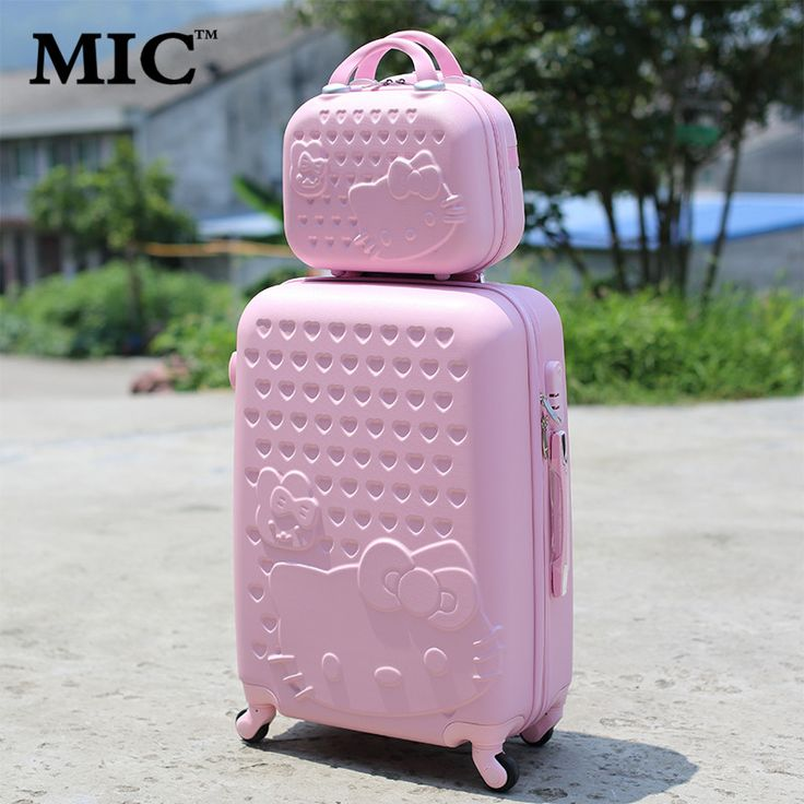 20 24 28 Hello Kitty Suitcase Sets Children Women s KT Luggage High Quality ABS Box