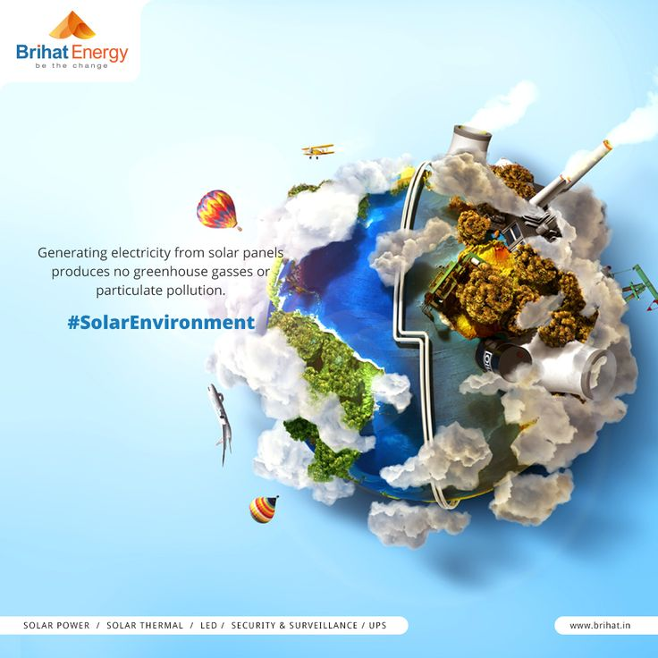 Generating electricity from solar panels produces no greenhouse gasses or particulate pollution. #SolarEnvironment  Visit: goo.gl/q6ECB2