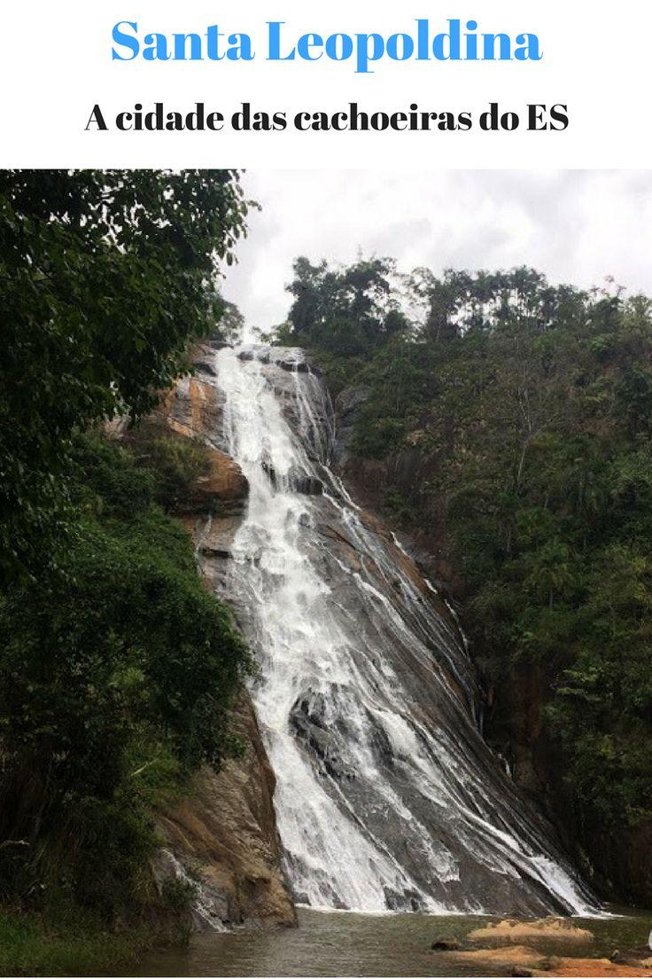 Santa Leopoldina conta com mais de 40 cachoeiras, a cidade está localizada na região do imigrante do Espírito Santo - Brasil.