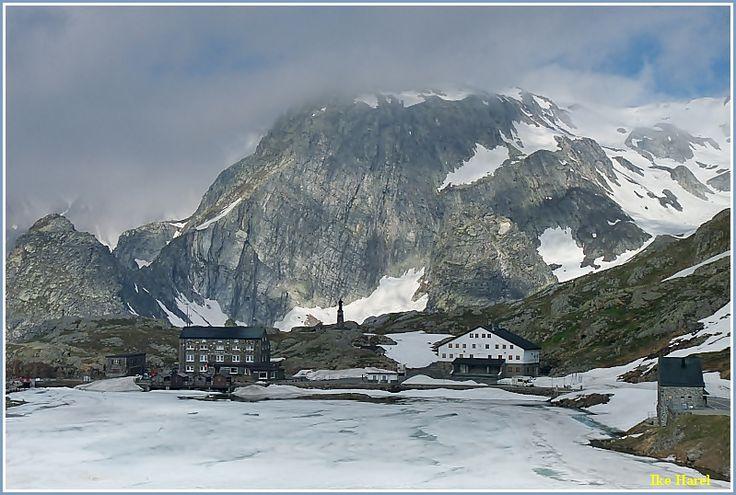 St. Bernard Pass - Saint Bernard Pass, Valais.