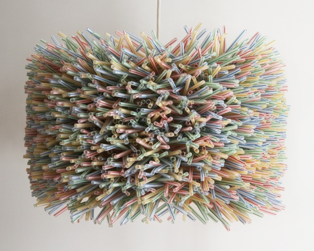 drinking straw drum shade....crazy awesome or just crazy? i can't decide