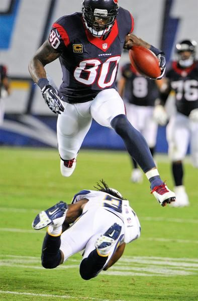 Andre Lamont Johnson (born 7/11/81 in Miami, Florida) is an American football wide receiver for the Houston Texans of the NFL. He played college football for the University of Miami. He was drafted by the Texans third overall in the 2003 NFL Draft. Johnson is second all-time in NFL history in receiving yards per game (80.4), trailing only Calvin Johnson (83.0), and holds nearly every Texans receiving record.