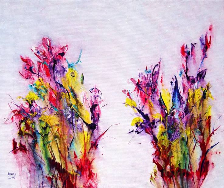 Buy Prints of RP302, a Acrylic on Canvas by Radek Smach from Czech Republic. It portrays: Floral, relevant to: pink, purple, rainbow, contemporary, expressive, abstract, flowers, meadow, modern Ready to hang.   No framing required (it can be framed).