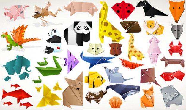 Картинки животные оригами