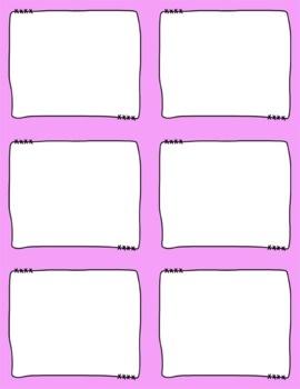 Task Card Frames and Borders FREEBIE - 2 - Template