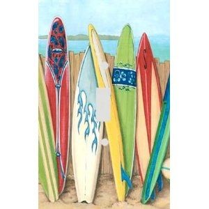 Surfboard Decor For Bathroom | Surfboards On The Beach Decorative  Switchplate Cover