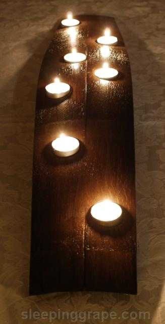 wine barrel stave candle holder & 131 best Sleeping Grape\u0027s Work images on Pinterest | Cellar doors ...