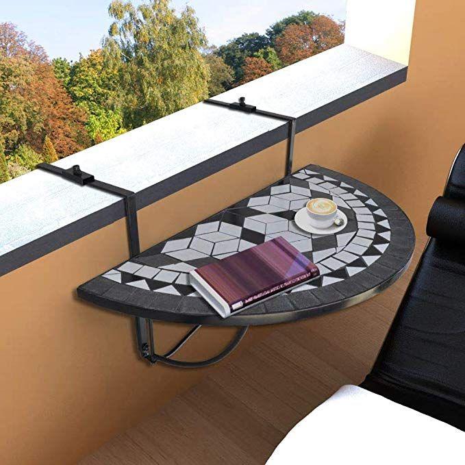 Amazon Com Tidyard Outdoor Balcony Hanging Railing Table Patio Garden Folding Deck Table Garden Outdoor Round Patio Table Patio Table Hanging Table