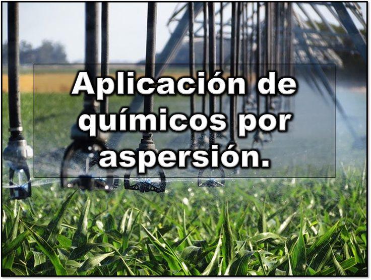 Descarga gratuita de este manual para aplicar agroquimicos por riego por aspersión  http://librosynoticiasdeagronomia.blogspot.mx/2016/12/como-aplicar-agroquimicos-por-aspersion.html