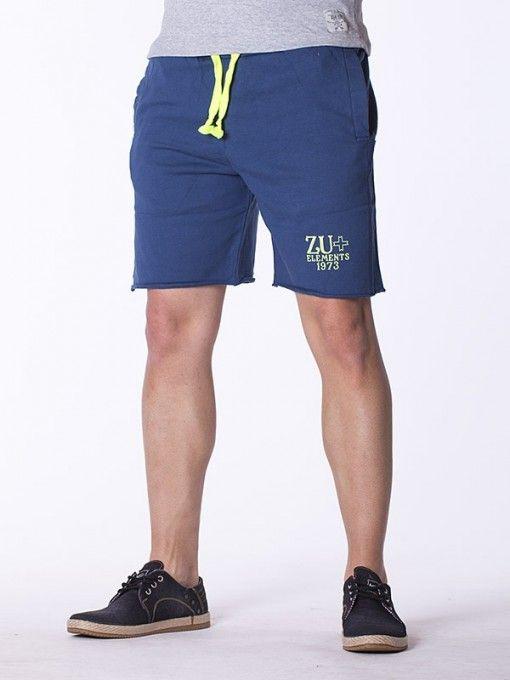 Pantaloni scurti barbati ZU - albastru
