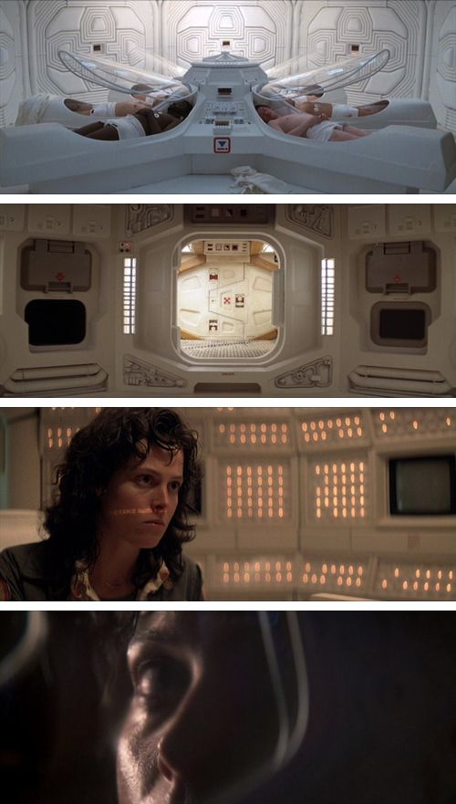 Alien (1979) directed by Ridley Scott cinematography by Derek Vanlint