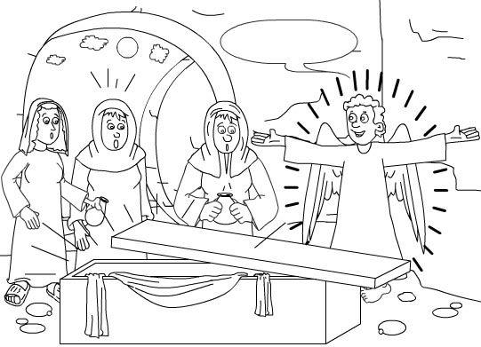 Dibujos para colorear la Pasión, Muerte y Resurrección de Jesús . Todas las escenas desde la entrada en jerusalén hasta la ascensión a los c...