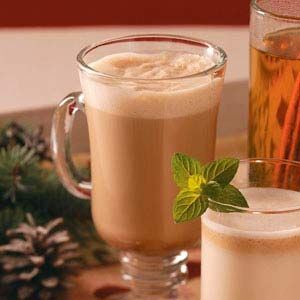 Hot Buttered Rum! A warm delicious treat in the winter. This one is made with ice cream.