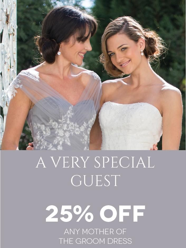 For Your Very Special Guest! Get 20% off any Mother-of-the-Groom Dress through the Bride&co Rewards Program. Click to View or Find Out More.