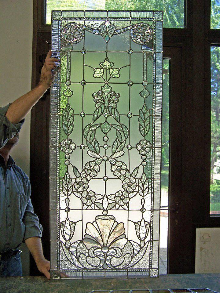Stained glass window in progress in France Vitrail International Paris