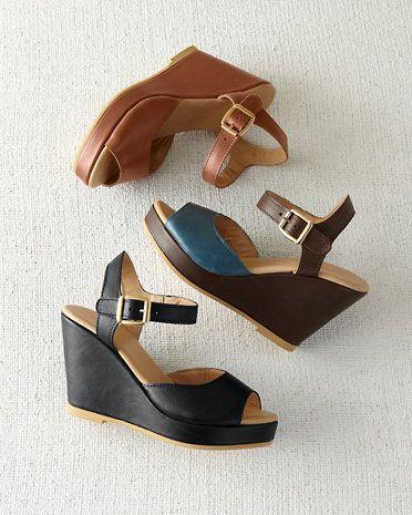 Chiara Leather Wedges