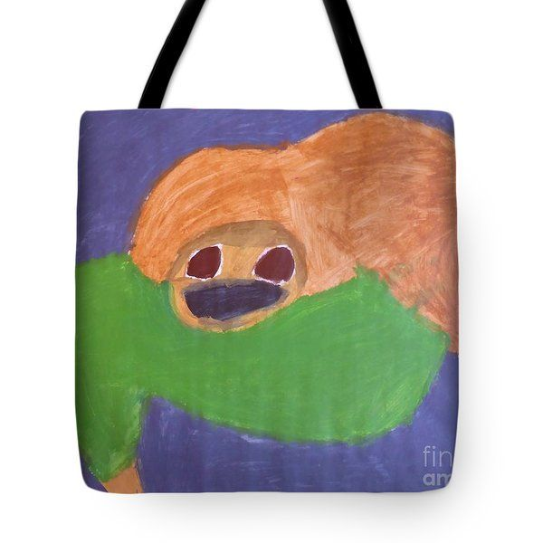 Patrick Francis - Tote Bag featuring the painting Otter 2014 by Patrick Francis