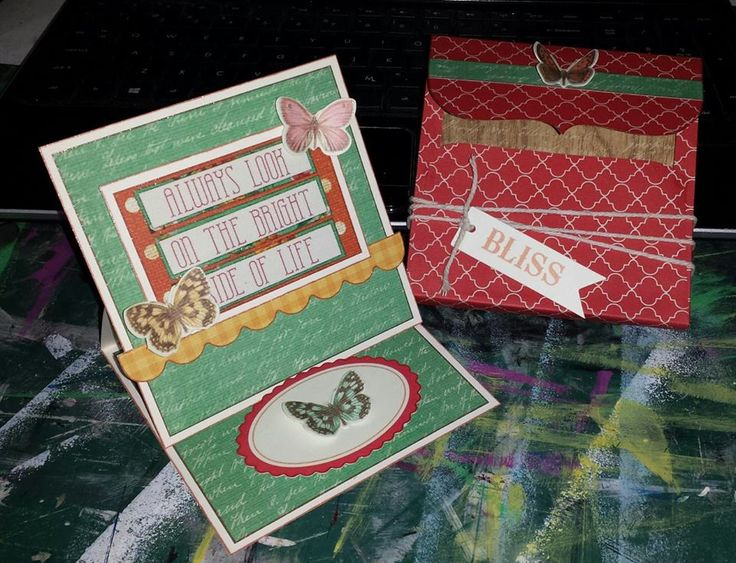 Easel Card and 3D Envelope - Kaisercraft Tropical Punch collection and Envelope Template ~Karyn Watton