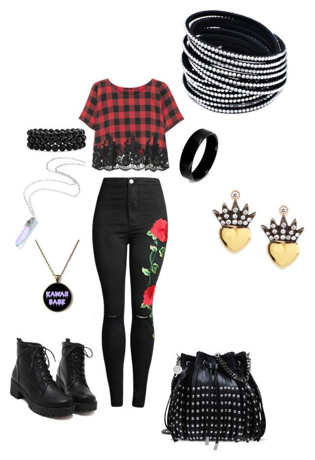 """""""red, 5sos"""" by soslover666 ❤ liked on Polyvore featuring Rosamosario, Bling Jewelry, West Coast Jewelry, STELLA McCARTNEY and Irit Design"""