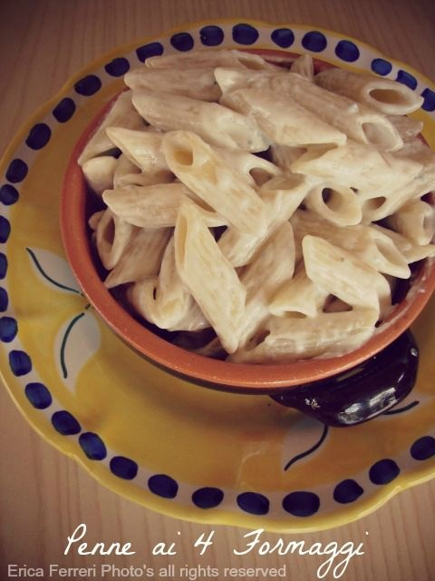 pasta with 4 cheeses -  Penne ai 4 formaggi