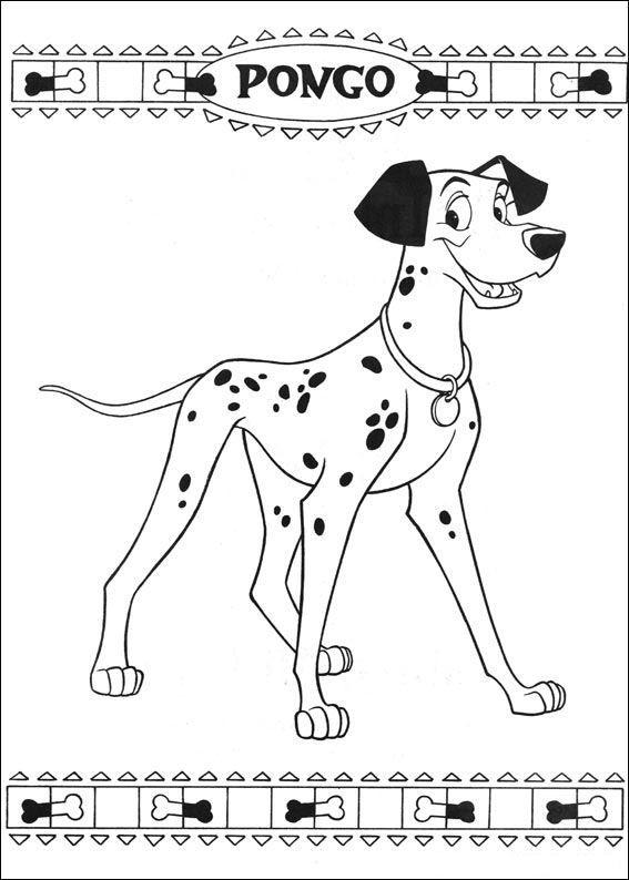 coloring page 101 Dalmatians Kids-n-Fun
