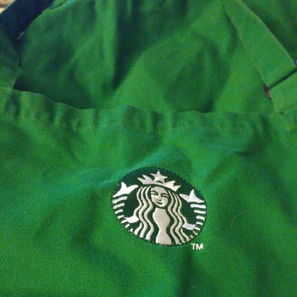 Starbucks apron make an offer Beautiful bright green. I have a total of 5. Make an offer for 1 or all. 1 is damaged in pocket area from having keys while working. Other