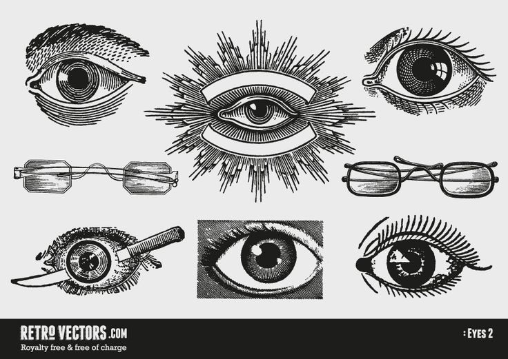 Vintage Vector Eyes | Vintage Vectors | Royalty Free | Free of Charge | Commercial Use | Free Retro Vectors