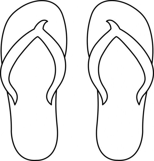 flip flop coloring page # 3