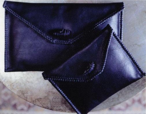 Hand Stitched French Calf Envelope Bolsa - www.larruleathers.com