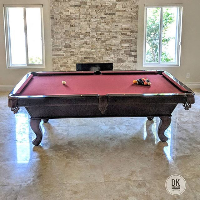 Finished Moving This 8ft Abc Tiburon Pool Table In Yorba Linda Second Time Restretch Mahogany Felt Billiards Dkbilli Pool Table Man Cave Ultimate Man Cave