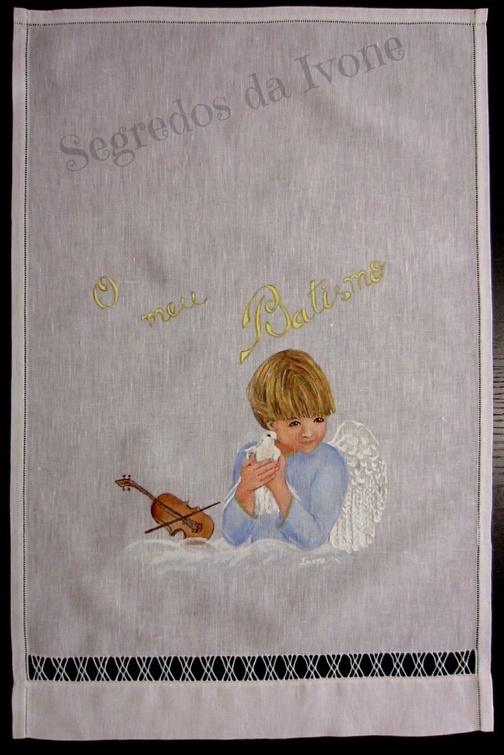 AB8- Pintura em toalha de batismo