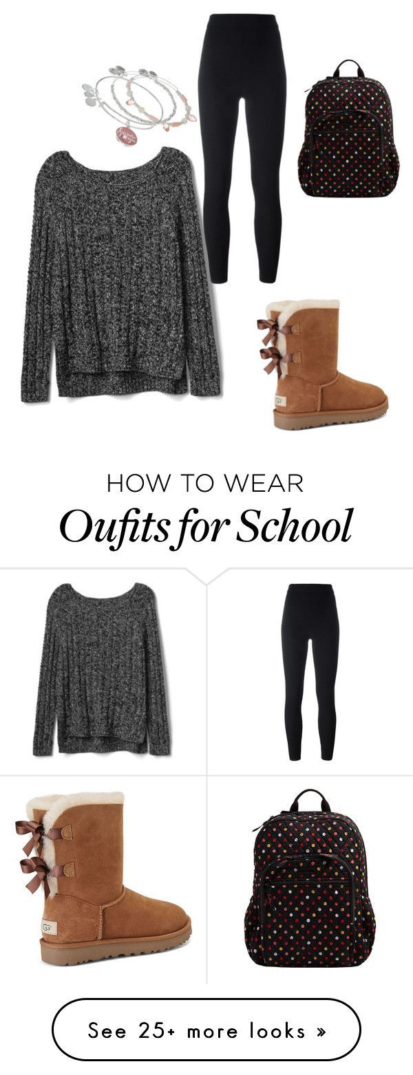 """How to were outfits for school"" by faith-grandison on Polyvore featuring Gap, adidas Originals, UGG, Vera Bradley and Alex and Ani"