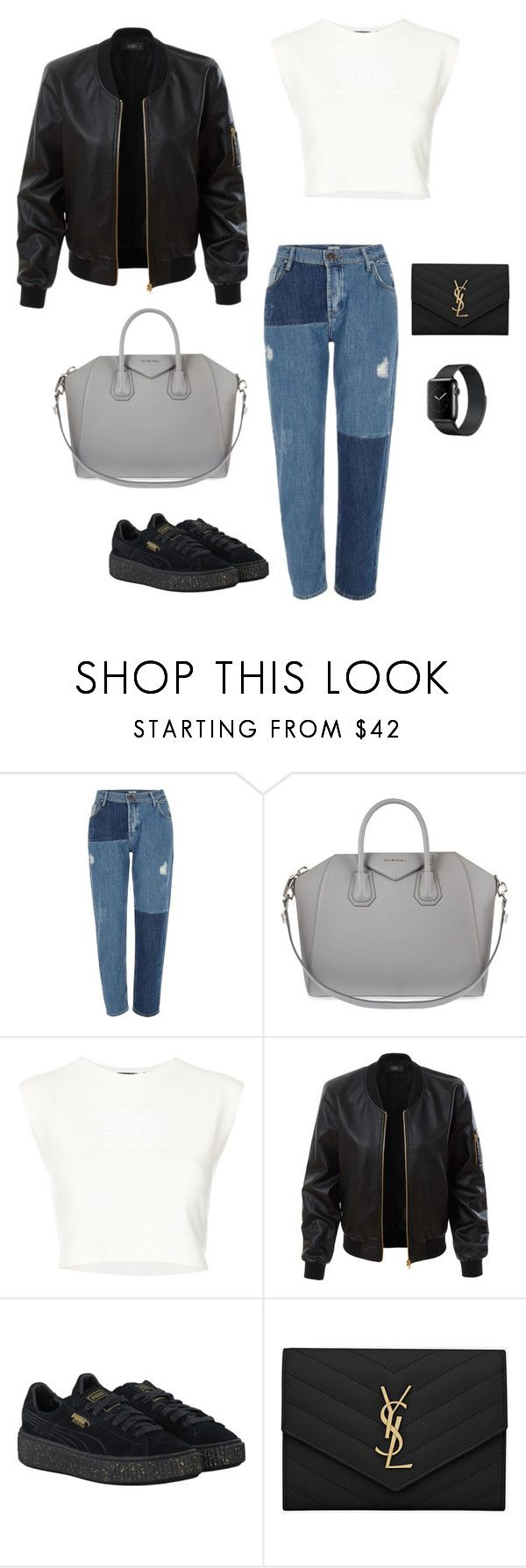 """""""Untitled #477"""" by nadiralorencia on Polyvore featuring River Island, Givenchy, Puma, LE3NO and Yves Saint Laurent"""